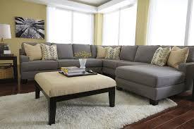 gray sectional with ottoman amazing gray polyfiber sectional sofa sleeper black wooden ottoman