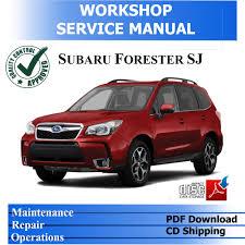 cd subaru forester sj 2013 2017 workshop service pdf manual ebay