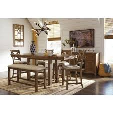 moriville counter height dining set w bench signature design