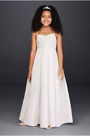 flower dress empire waist lace flower girl dress david s bridal