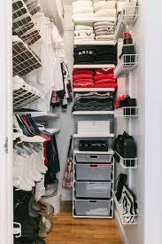 small walk closet organization tips