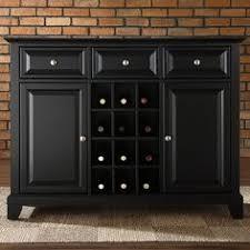 sideboard cabinet with wine storage amazon com crosley furniture lafayette buffet server sideboard
