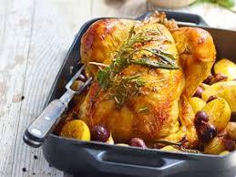 cuisiner poulet entier poulet rôti aux olives et au citron confit facile et pas cher