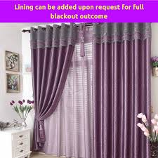 Sheer Curtains With Valance Blockout Fabric Design Drape Purple Valance Door Curtain Sheer