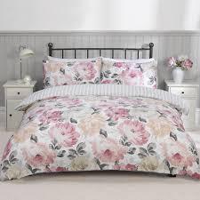 sasha pink luxury floral duvet set julian charles