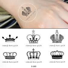 crown tattoo body art 2015 fashion elegant stylish temporary