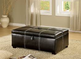 Pull Out Ottoman Appoline Contemporary Style Black Leatherette Pull Out Bed