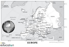 Blank Physical Map Of Europe by Europe Resources National Geographic Society