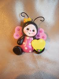 ladybug cake topper christmas ornament personalized childrens gift