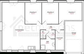 plan plain pied 3 chambres plan de maison plain pied 4 chambres avec garage plan de maison