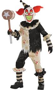 killer clown costume boys creepy clown costume party city