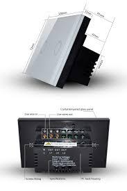 us au rf remote control 2gang 1way light wifi control switch buy