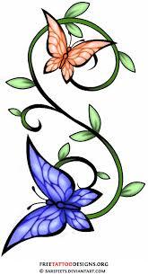 butterflies and vine design i just want my butterflies