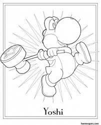 free printable mario coloring sheet yoshi kids printable
