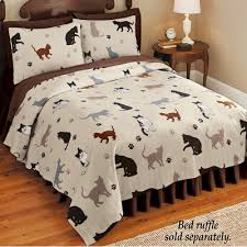 What Is A Coverlet Used For Cat Printed Fleece Coverlet From Collections Etc