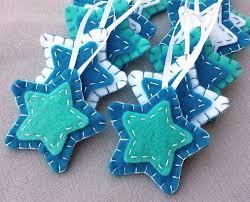 amazon com 10 blue star ornaments blue christmas decorations