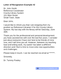 professional resignation letter format 2 pdf download