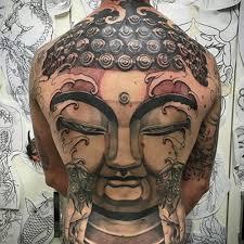 tattoo back face buddha tattoos