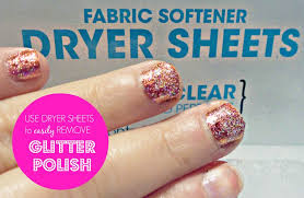 remove glitter nail polish with dryer sheets super easy good