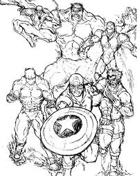 download marvel characters coloring pages