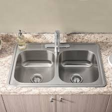 Kitchen Sinks Stainless Steel Colony 33x22 Double Bowl Stainless Steel Kitchen Sink American