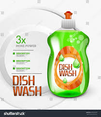 vector green kitchen dish wash bottle stock vector 550605499