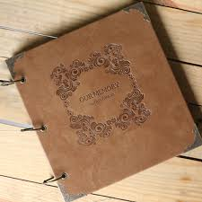 large scrapbook album large leather photo album scrapbook wedding guest book