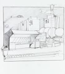 bus stop and kiosk sketch stock illustration image 42978665
