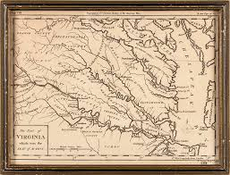Map Of Virginia by Rare 18th Century Revolutionary War Map Entitled U201cthe Part Of
