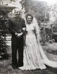 wedding restoration for 107 year old lace wedding gown