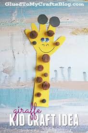 Kids Handprint Crafts Paper Handprint Giraffe Kid Craft Glued To My Crafts