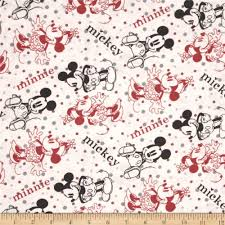 disney minnie u0026 mickey flannel editorial white from fabricdotcom