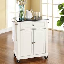white kitchen cart island white kitchen cart with granite top and locking casters wheels