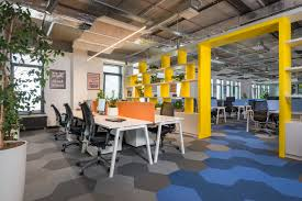 tech office design a modern tech office in latvia featuring bold details and bright