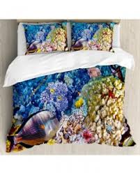 Fish Duvet Cover Underwater Fish Tapestry Ocean Beauties Printed Wall Hanging