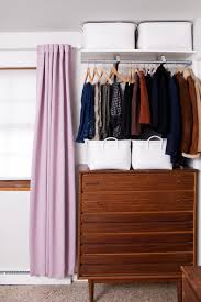 diy open closet system for those with tiny bedroom closets