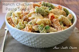 chicken pasta salad ranch chicken pasta salad new south charm