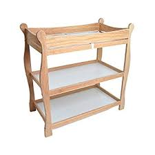 amazon baby changing table amazon com badger basket natural sleigh style baby changing for wood