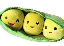 3 peas in a pod story 3 peas in a pod plush large 48cm vegetable