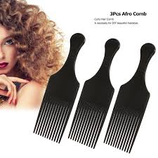 hair fork 3pcs afro comb hair fork comb insert hairdressing styling tool