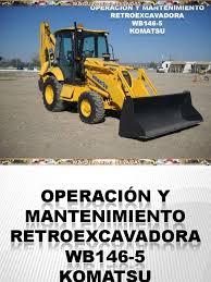 curso operacion mantenimiento retroexcavadora wb 146 5 komatsu