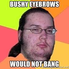 Bushy Eyebrows Meme - bushy eyebrows would not bang fat nerd guy meme generator