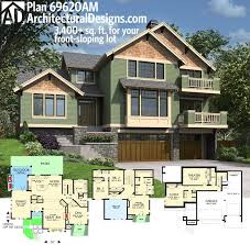 front sloping lot house plans 69 best homes for the sloping lot images on