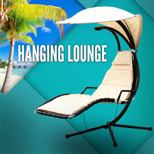 outdoor lounge swing chair garden hanging lounge chaise canopy