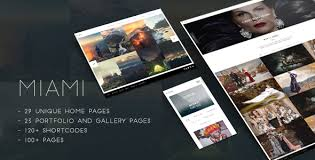 Photography Portfolio Miami Creative Photography Portfolio Template Themelock