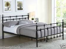 metal double bed with mattress ebay