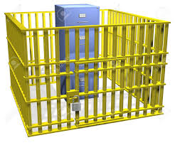 Security Cabinet Filing Cabinet Data Storage Safe In Security Cage Bars With Lock