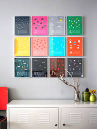 stunning modern diy wall arts above white sideboard storage with