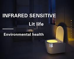 Motion Sensor Bathroom Light Led Toilet Night Light Auto Human Motion Sensor Fulljion Com