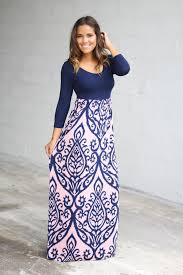 maxi dresses navy and pink printed maxi dress multicolor maxi dress saved